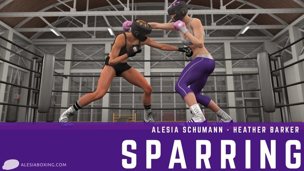 Alesia Schumann Heather Barker sparring 2