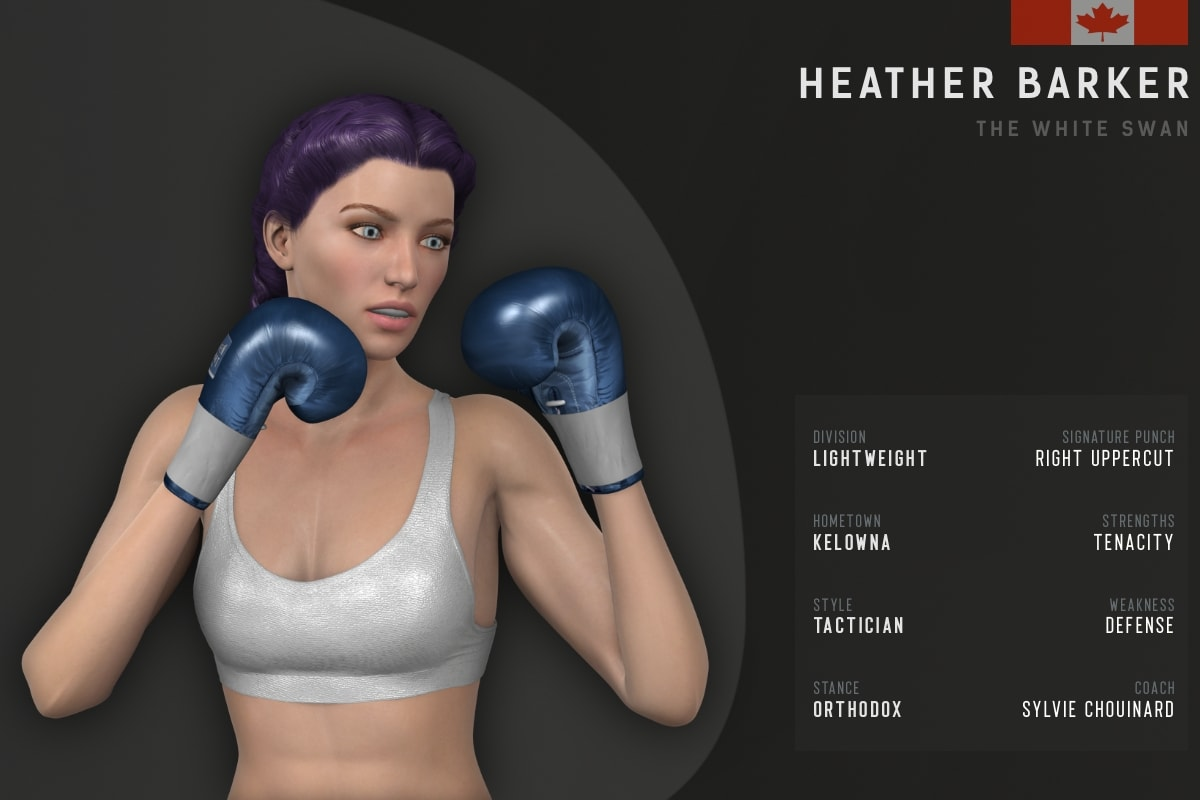 Heather Barker fighter card