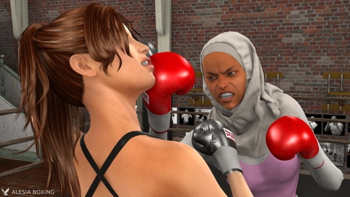 Anne Carter Nesrine Jaffar sparring