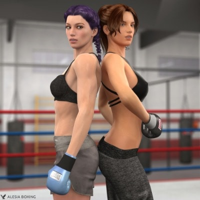 Heather Barker Anne Carter sparring