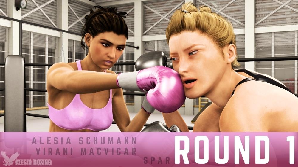 Alesia Schumann Virani MacVicar spar Round 1