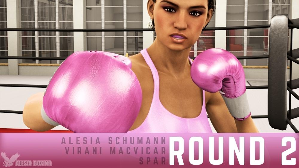 Alesia Schumann Virani MacVicar spar Round 2