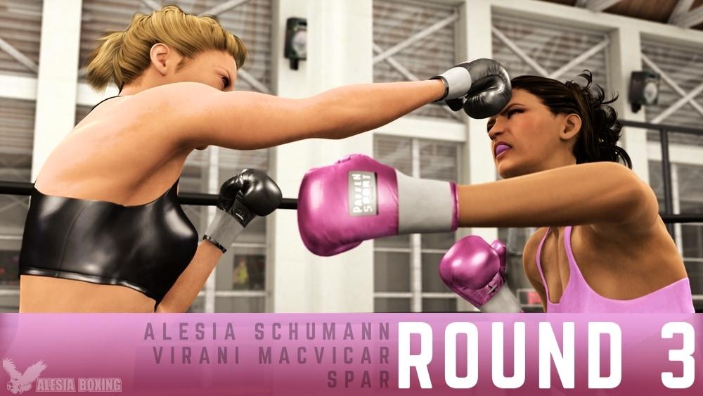 Alesia Schumann Virani MacVicar spar Round 3
