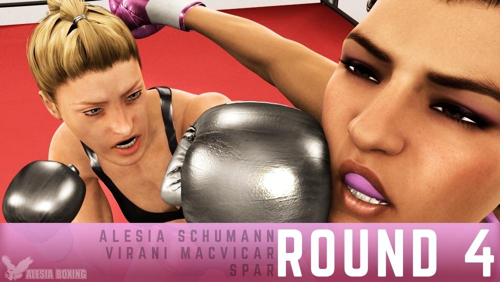 Alesia Schumann Virani MacVicar spar Round 4