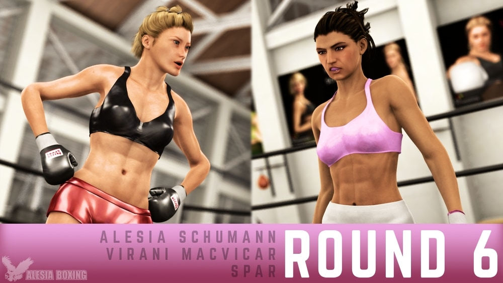 Alesia Schumann Virani MacVicar spar Round 6