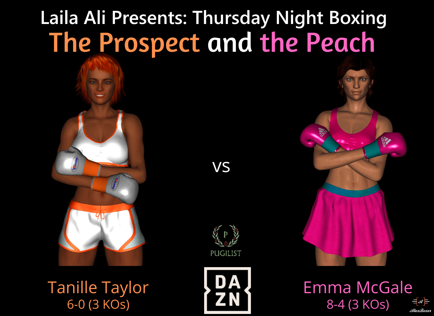Tanille vs. Emma - The Fight Poster