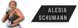 Alesia Schumann fighter card and profile