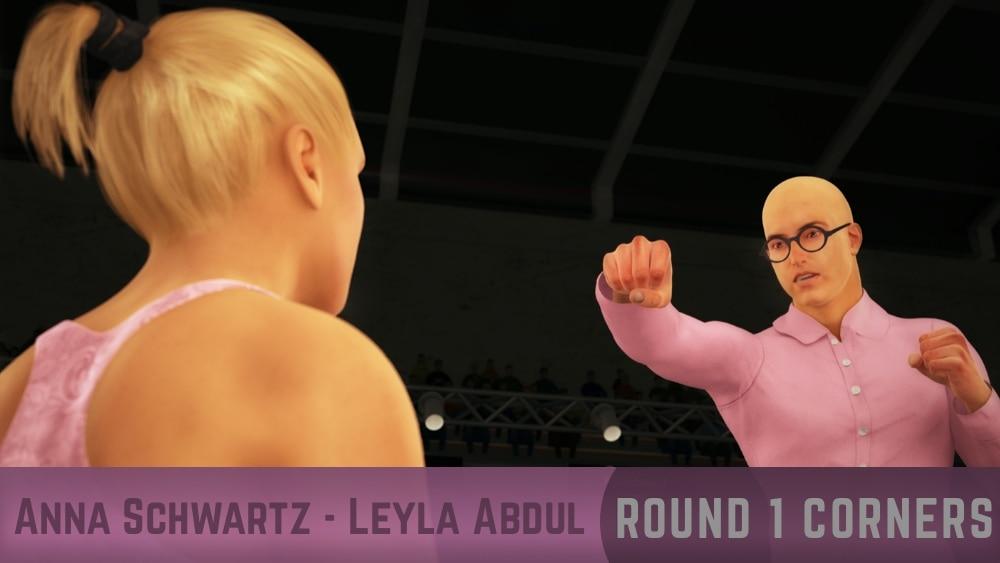 Anna Schwartz Leyla Abdul Round 1 corners