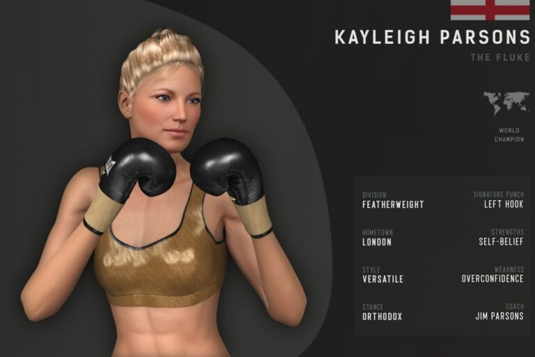 Fighter card Kayleigh Parsons
