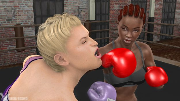Amber knocked out by Mercedes in sparring!