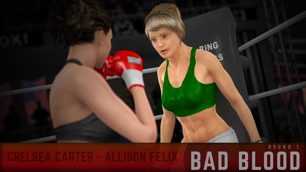 Chelsea Carter Allison Felix Round 1
