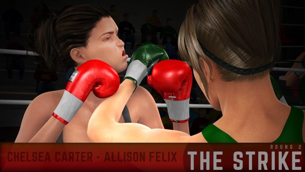 Chelsea Carter Allison Felix Round 2